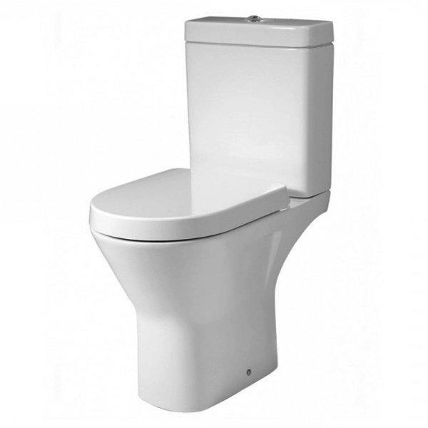 RAK Resort Maxi Close Coupled Full Access Rimless Toilet WC Pack - Soft Close Seat
