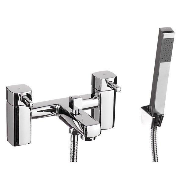 Cassellie Nero Bath Shower Mixer Tap - Chrome
