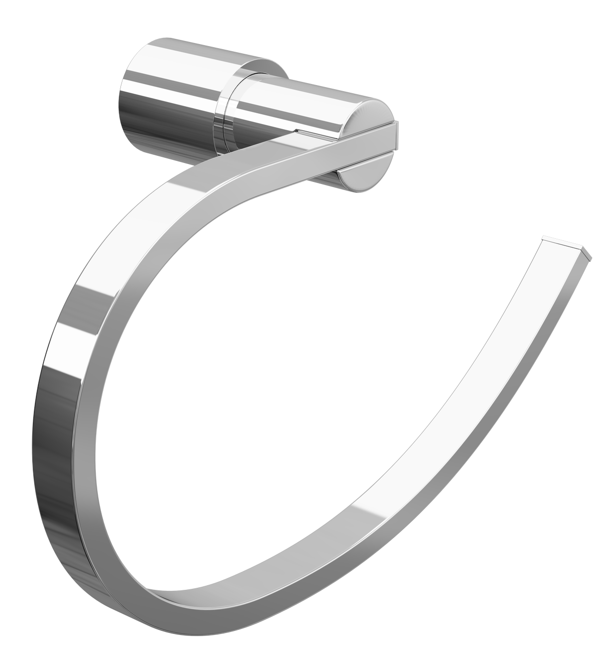 Cassellie Lilly Tower Ring - Chrome