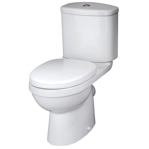 CLEARANCE Premier Ivo Close Coupled Toilet with Push Button Cistern - Soft Close Seat