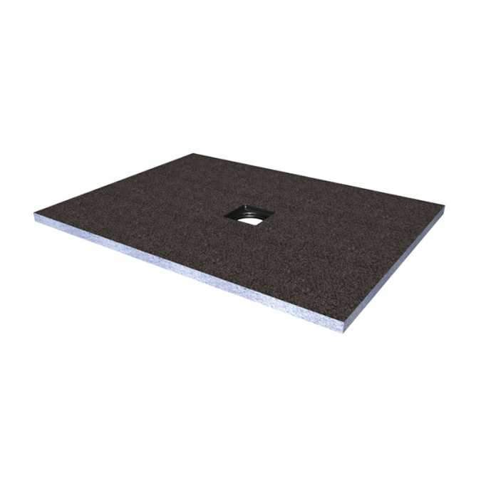 Abacus Direct Tileable Rectangular Shower Tray 900 x 1000mm Centre Drain