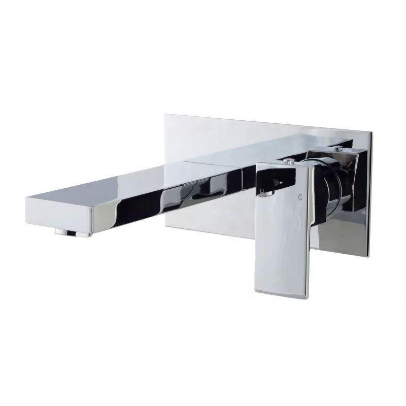 Cassellie Form Wall Mounted Bath Filler Tap - Chrome