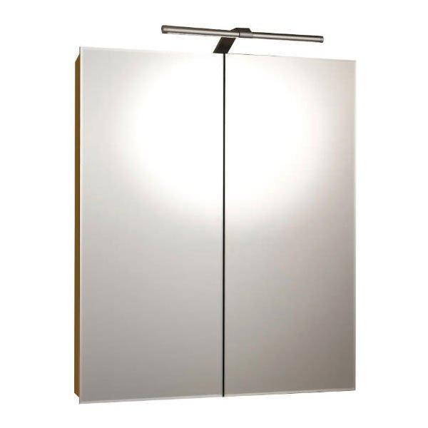 RAK Vogue Mirrored Bathroom Cabinet 700mm H x 600mm W - Aluminium