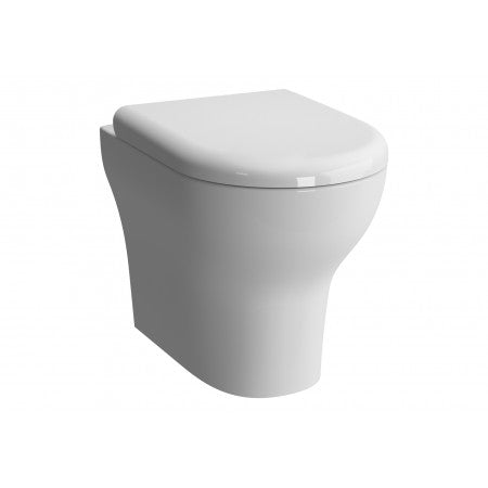 Vitra Zentrum Rim-ex Close Coupled Open Back WC Pan - Pan Only