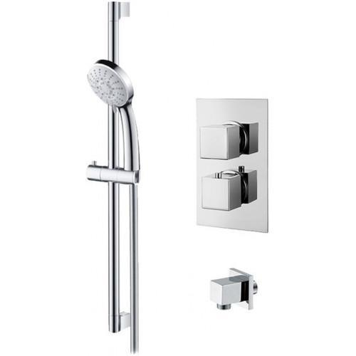 Abacus Emotion Thermostatic Square Shower & Riser Rail Kit