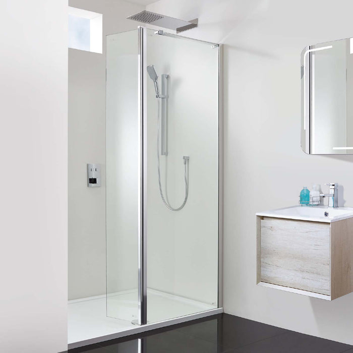 Phoenix Techno 10mm Hinged Walk-In Shower Enclosure 120 x 70 Recess ...