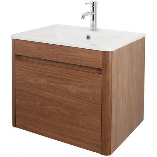 Abacus D-Style Vanity Unit 600 x 450mm Walnut