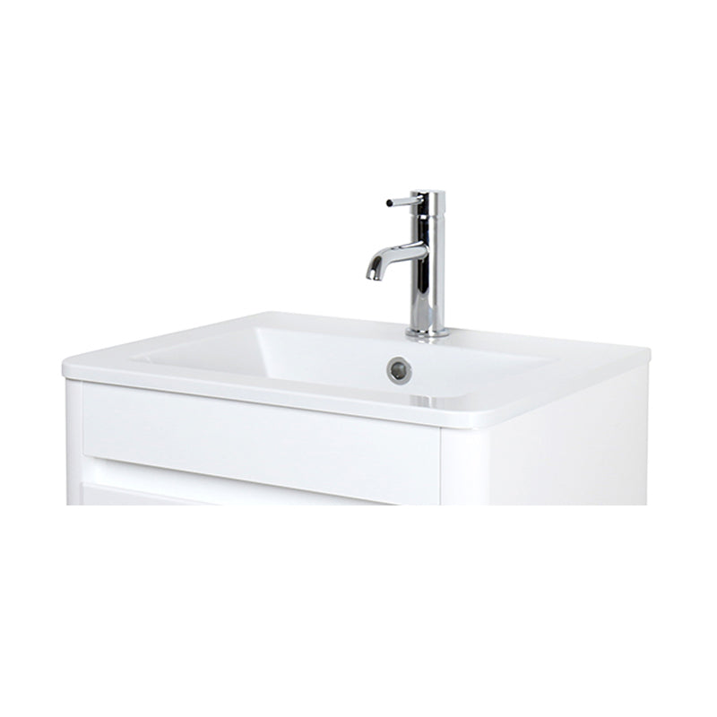 D-STYLE SOLID SURFACE BASIN WITH EVERMITE COATING - 50CM