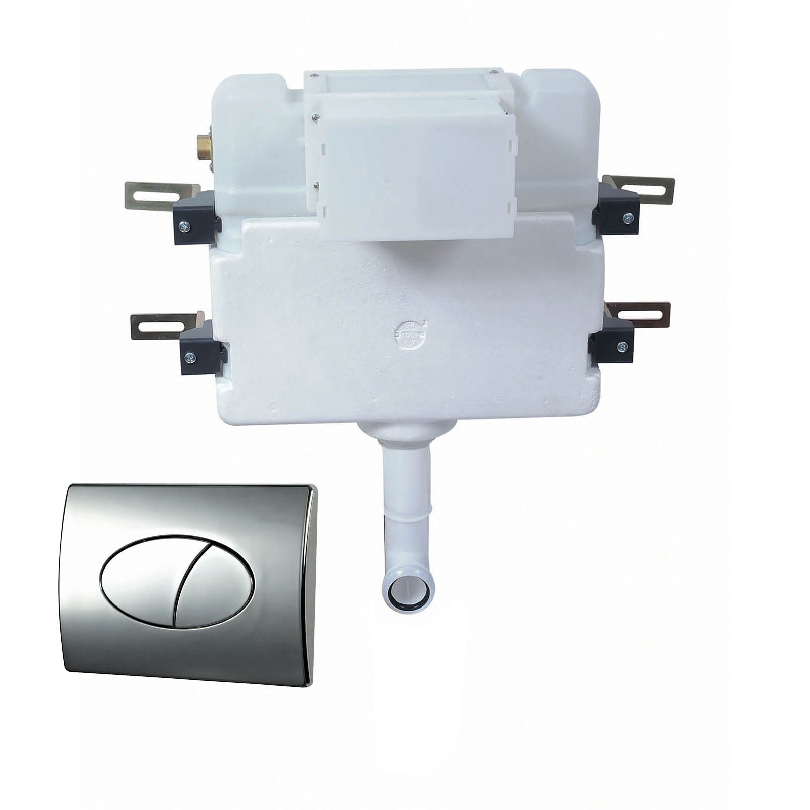 Phoenix Luxury Concealed Cistern With Pneumatic Round Flush Plate