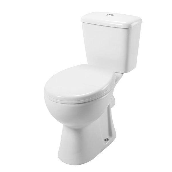 Cassellie Unison Close Coupled Toilet with Push Button Cistern - Soft Close Seat