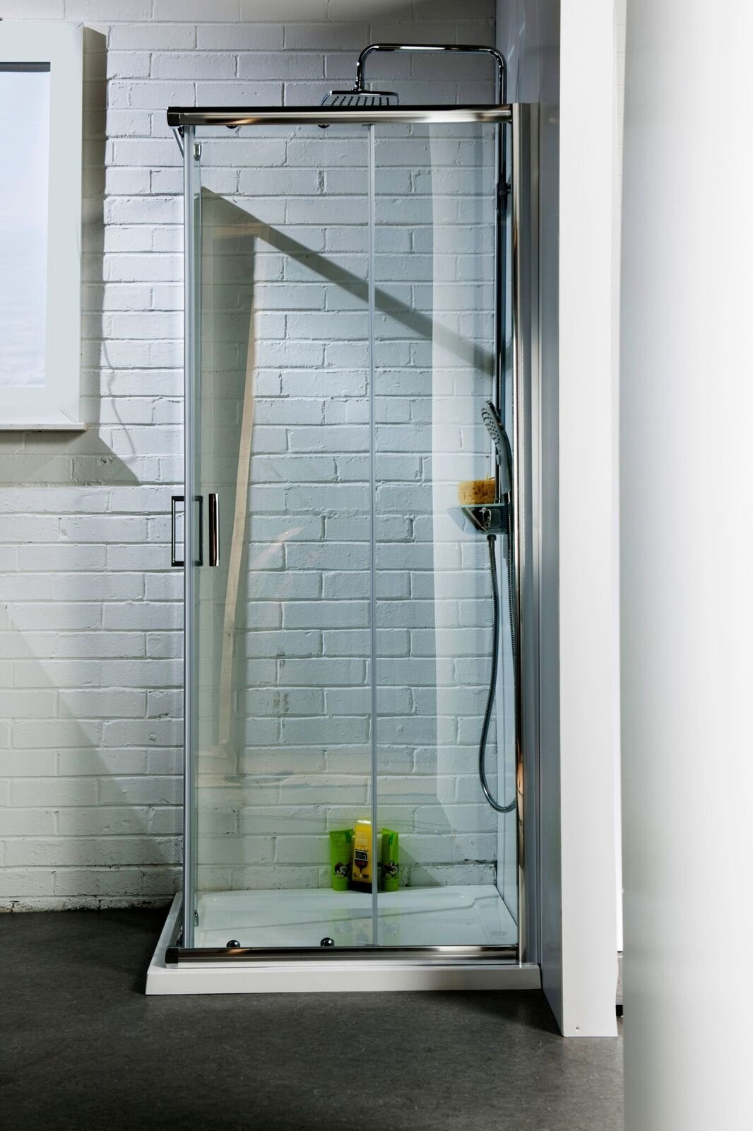 Cassellie Seis Corner Entry Shower Enclosure - 800mm x 800mm - 6mm Glass