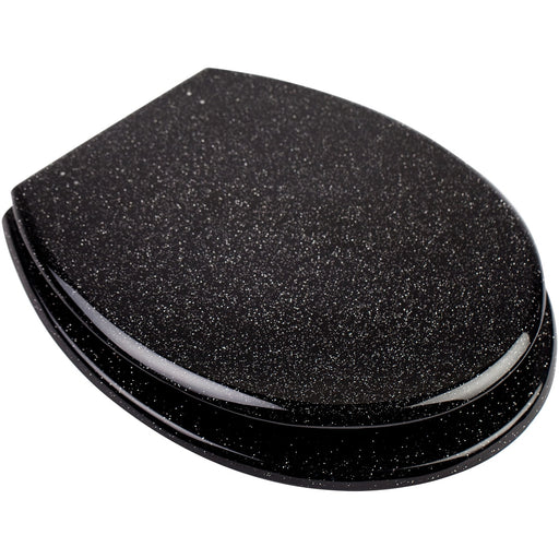 CLEARANCE Euroshowers Polyresin Toilet Seat - Glitter Black