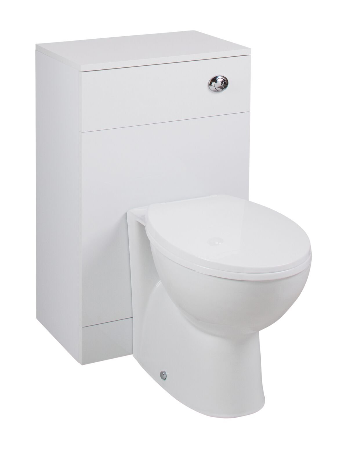 Cassellie Kass WC Unit with Churwell Back to Wall Pan & Seat - 500mm Wide x 850mm Deep - White