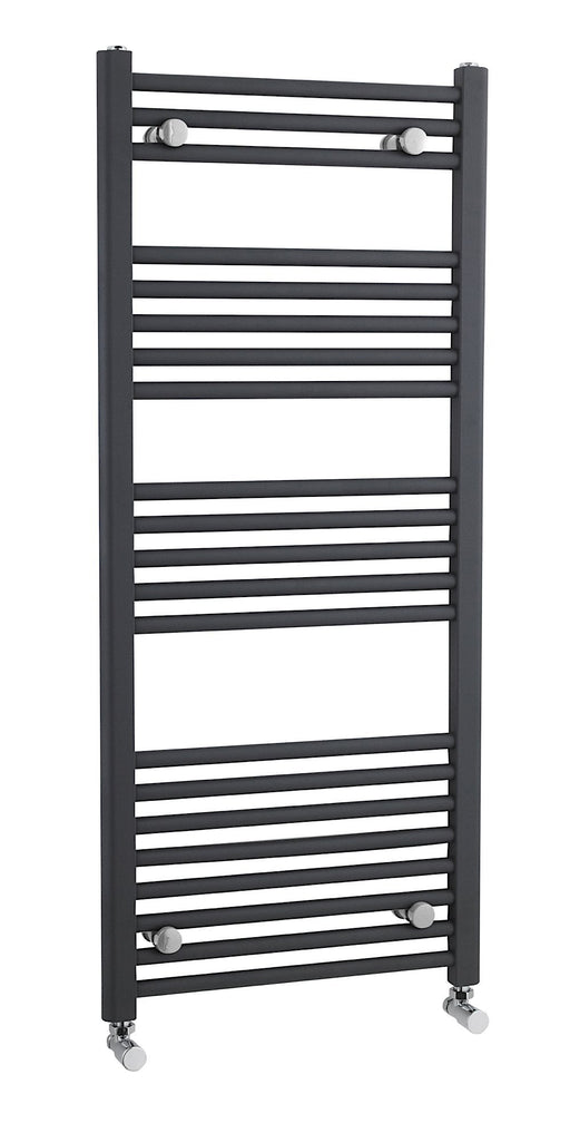 CLEARANCE Premier Straight Heated Towel Rail 1150mm H x 500mm W Anthracite