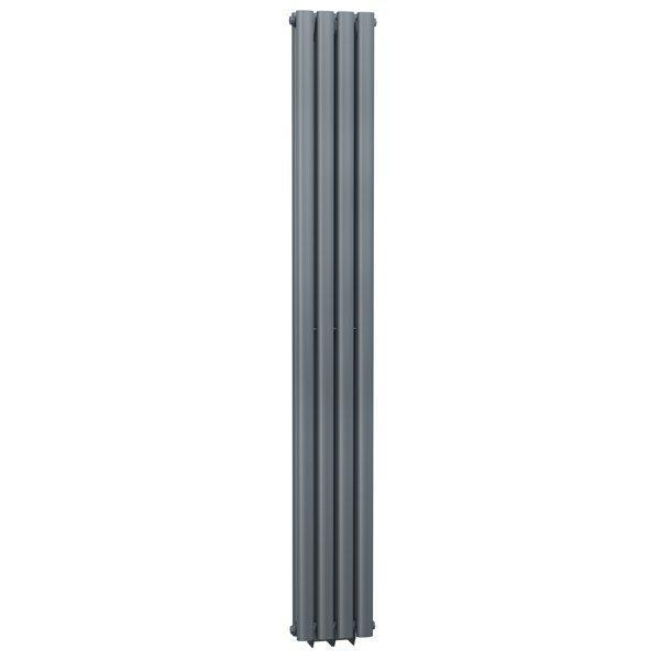 Cassellie Celsius Double Panel Designer Vertical Radiator - 1800mm High x 236mm Wide - Anthracite