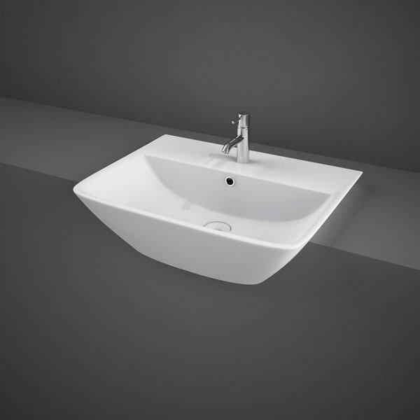 RAK Summit Semi-Recessed Basin 500mm Wide 1 Tap Hole
