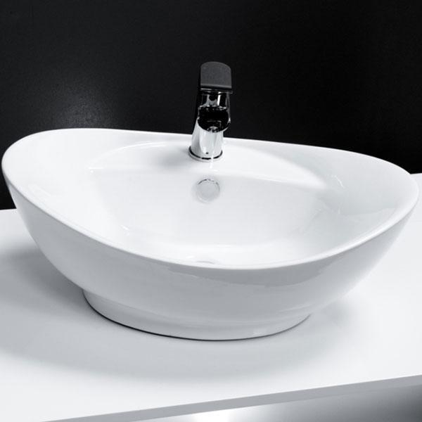 Cassellie Vessel Oval Counter Top Basin - 600mm Wide - 1 Tap Hole