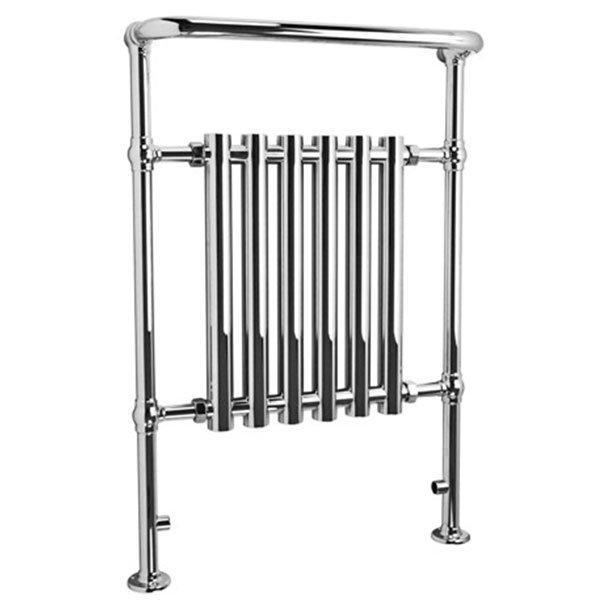 Cassellie Traditional Heated Towel Rail - 963mm High x 673mm Wide - Chrome