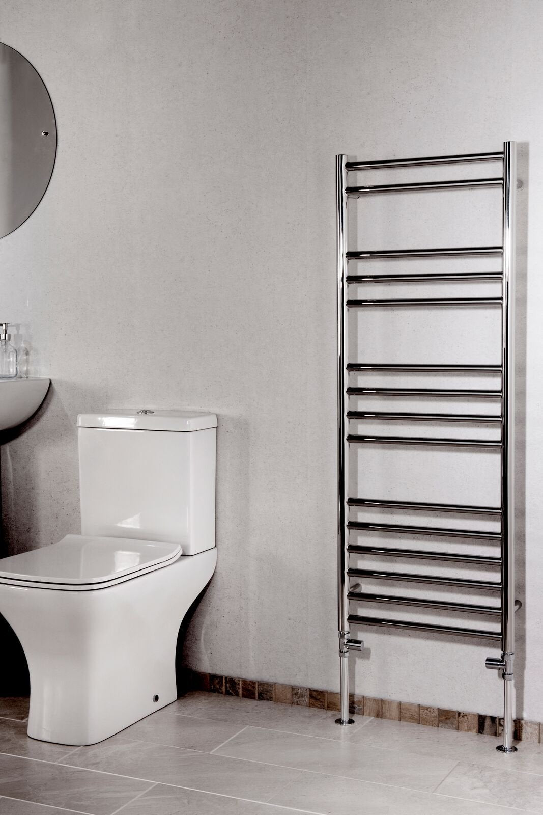 Cassellie Luxe Designer Heated Towel Rail - 1200mm x 450mm - Chrome