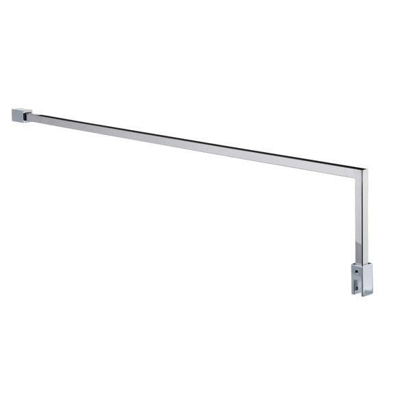 Cassellie Square Fixed Wet Room Support Arm - 1000mm - Chrome