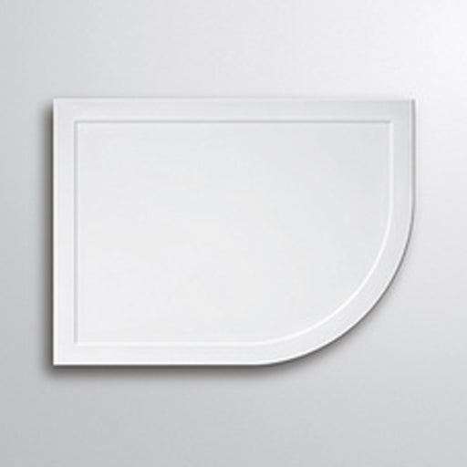 Lakes Low Profile Offset Quadrant Shower Tray - 900mm x 760mm - White - Right Handed