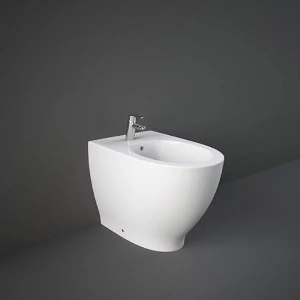 RAK Harmony Back to Wall Bidet 560mm Projection 1 Tap Hole