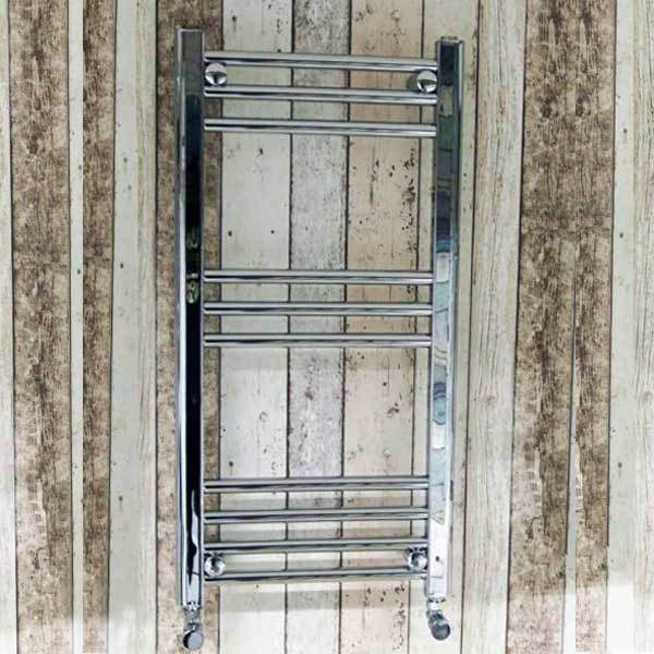 Cassellie York Straight Heated Towel Rail - 1000mm x 600mm