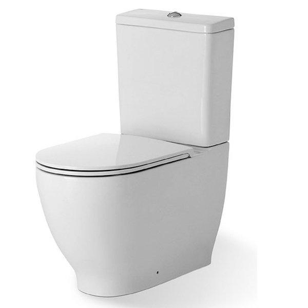 RAK Harmony Close Coupled Toilet with Push Button Cistern - Soft Close Seat