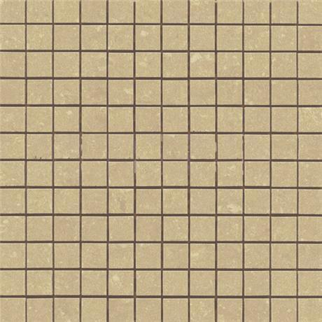 RAK 1 Sheet - Lounge Beige Porcelain Mosaic Unpolished Tile Sheet - 300x300mm