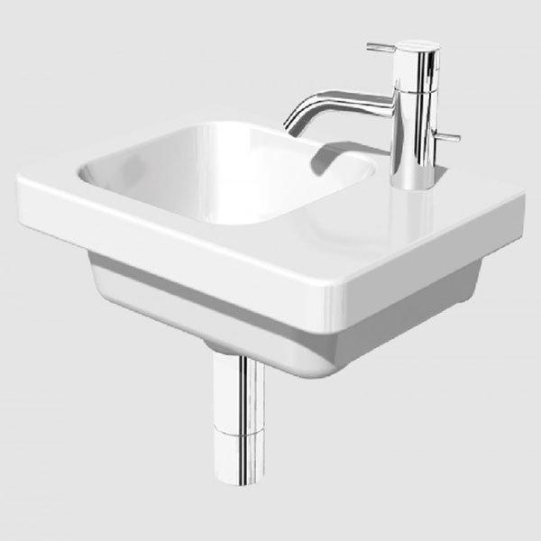 RAK Resort Right Handed Wall Hung Basin, 450mm Wide, 1 Tap Hole