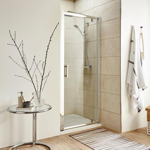 CLEARANCE Premier Pacific Pivot Shower Door 700mm Wide - 6mm Glass