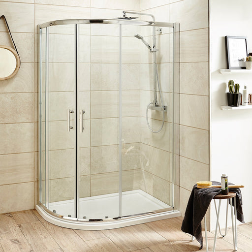 CLEARANCE Premier Pacific Offset Quadrant Shower Enclosure 1000mm x 800mm - 6mm Glass