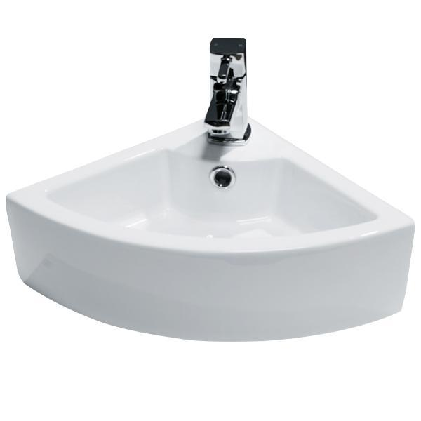 Cassellie Vessel Corner Cloakroom Counter Top Basin - 325mm Wide - 1 Tap Hole