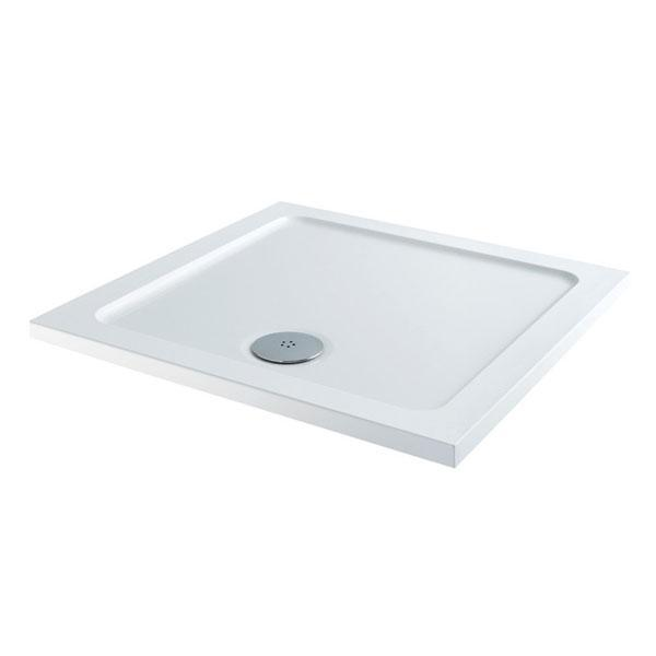 Cassellie Square Shower Tray - 800mm X 800mm - White