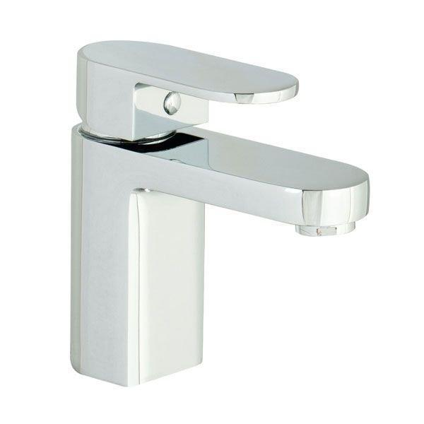 Cassellie Gento Mono Basin Mixer Tap Deck Mounted with Click Clack Waste - Chrome