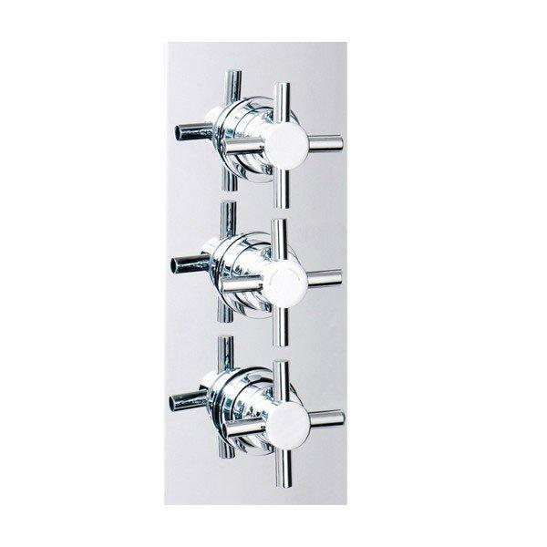 Cassellie Reno Triple Concealed Crosshead Shower Valve - Chrome