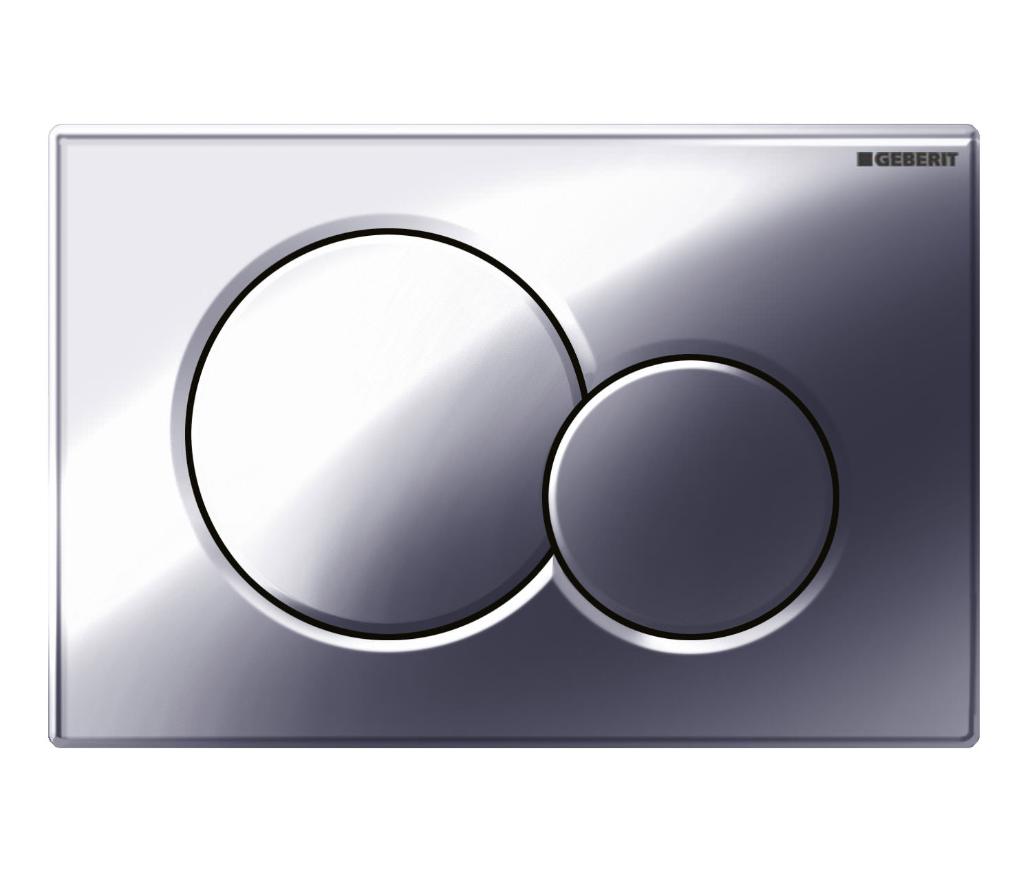 Geberit SIGMA01 Dual Flush Plate, for 80mm and 120mm Sigma Cisterns, Gloss Chrome