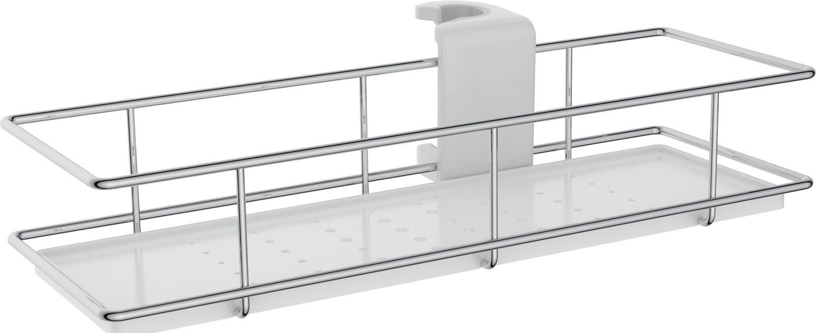 Cassellie Riser Rail Shower Basket - 300mm Wide - Chrome