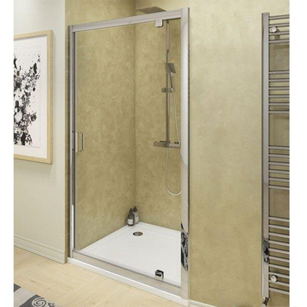 Cassellie Seis Pivot Shower Door - 800mm Wide - 6mm Glass