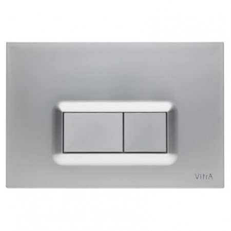 Vitra Loop R Dual Flush Plate (Matt Chrome Plated)