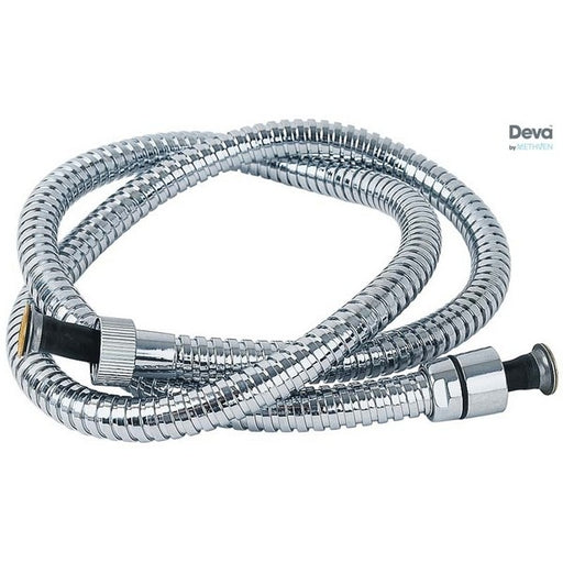 Deva HOS2.0CPW06 Chrome 2 m Widebore PVC Shower Hose