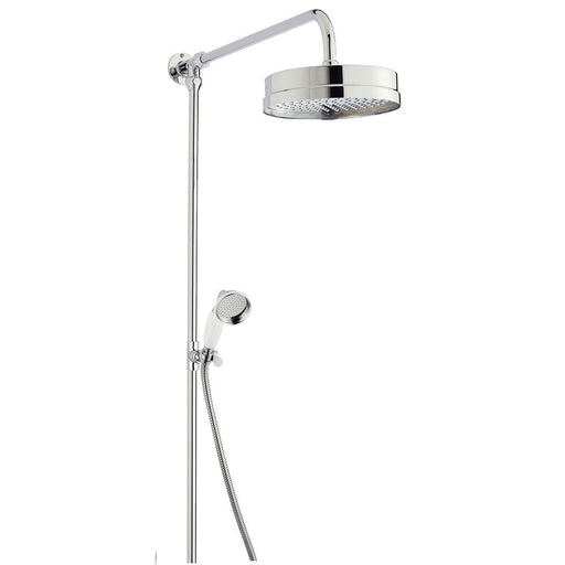CLEARANCE Hudson Reed Luxury Shower Riser Kit, Large Fixed Shower Head, Chrome