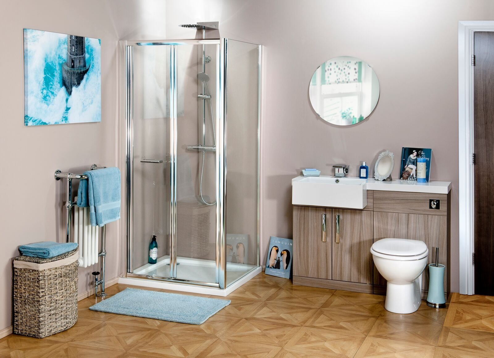 Cassellie Seis Bi-Fold Shower Door - 700mm Wide - 4mm Glass