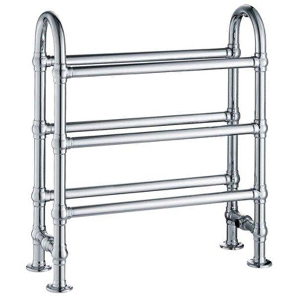 Cassellie Traditional Freestanding Heated Towel Rail - 778mm High x 686mm Wide - Chrome