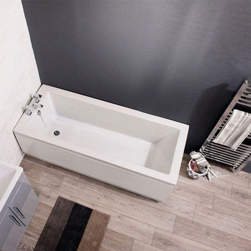 Cassellie Pool Square Style Single Ended Bath - 1700mm x 700mm - White