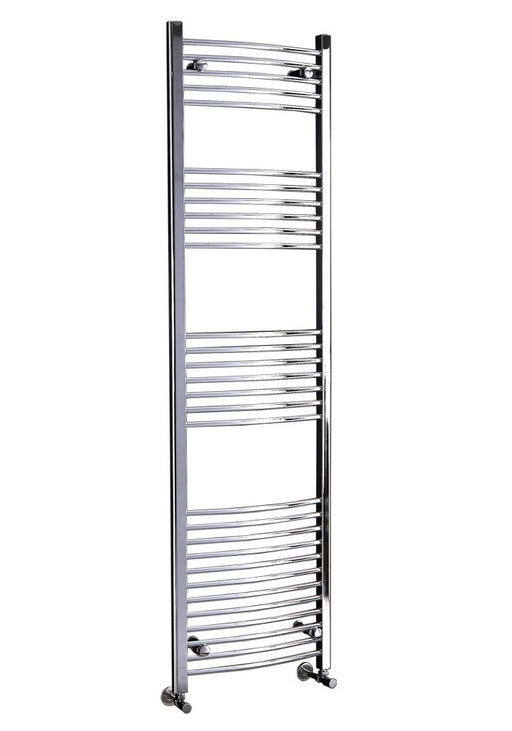 CLEARANCE Phoenix Gina Curved Pre-Filled Electric Designer Towel Rail 500x800mm