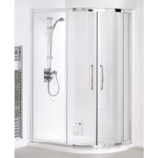 Lakes Classic Easy Fit Quadrant Shower Enclosure - 800mm - Silver - Clear Glass
