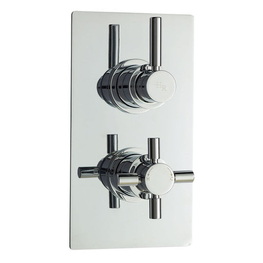 CLEARANCE Hudson Reed Tec Pura Concealed Shower Valve with Diverter Dual Handle - Chrome