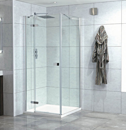 CLEARANCE Phoenix Idyllic Hinged Shower Door 1950mm Height Left-Handed Easy Clean Glass