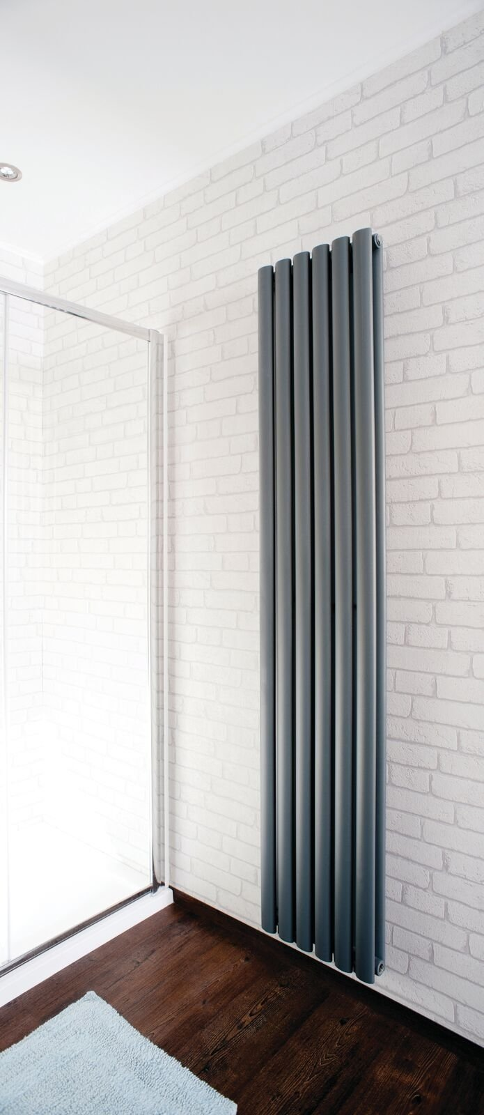 Cassellie Celsius Double Panel Designer Vertical Radiator - 1800mm High x 354mm Wide - Anthracite